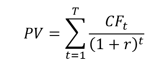 Present value of a series of cash flows