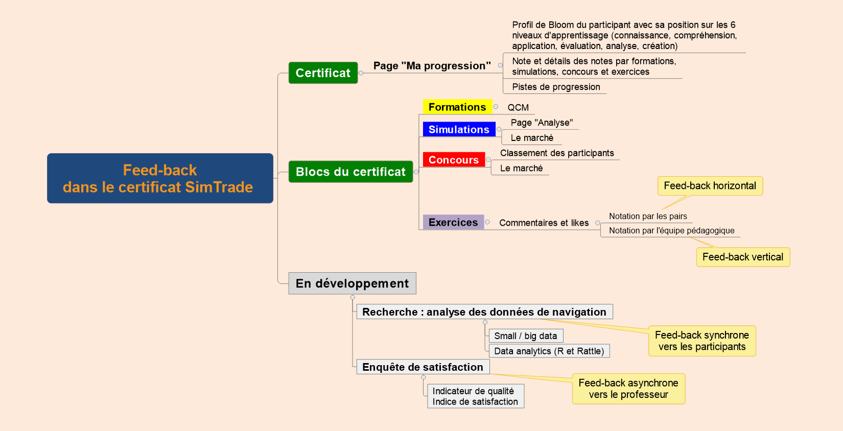 Mindmap SimTrade Feed-back